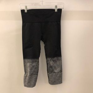 Lululemon gray ombré crop tights sz 4 68467